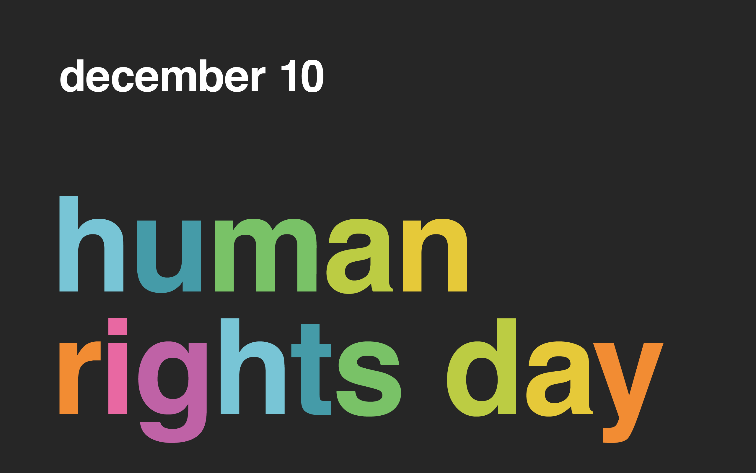 Celebrating International Human Rights Day