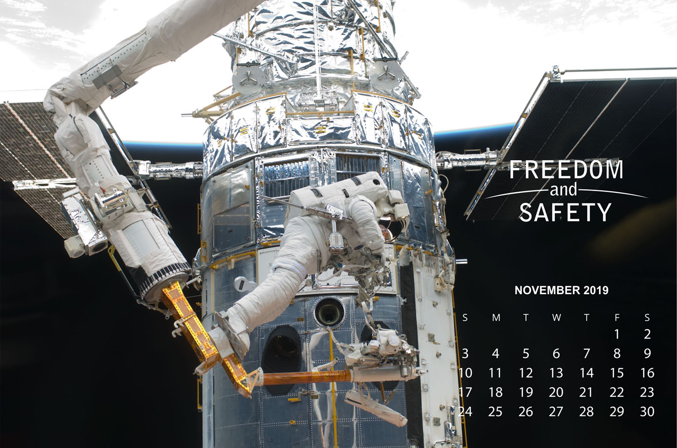Freedom and Safety November 2019 Calendar