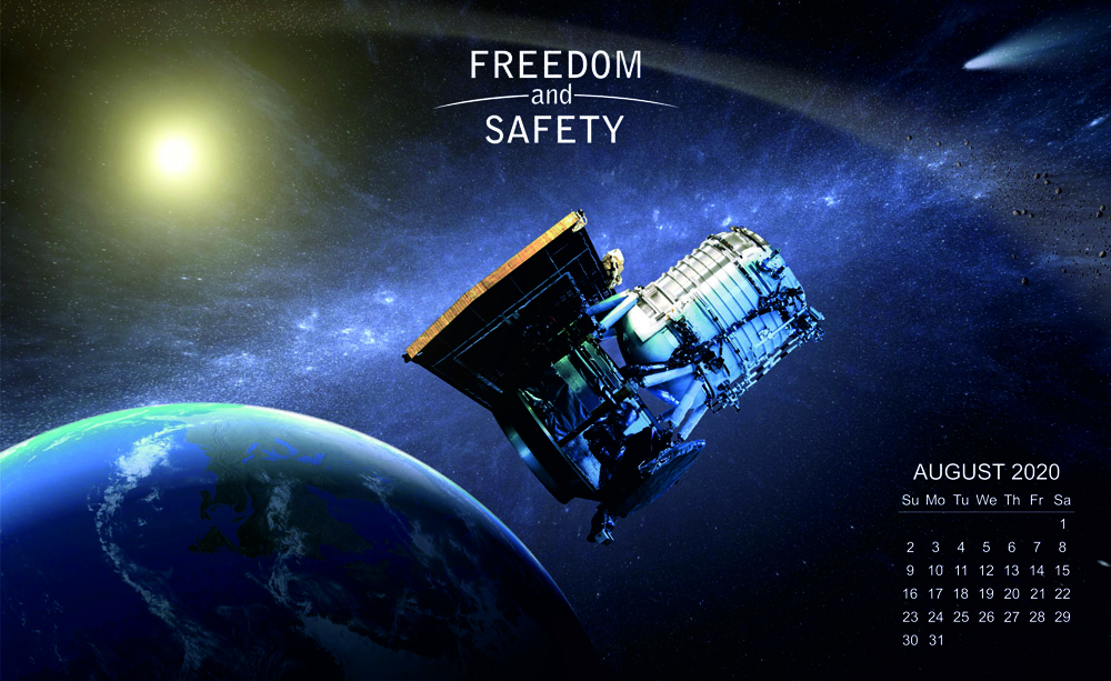 Freedom and Safety August 2020 Calendar