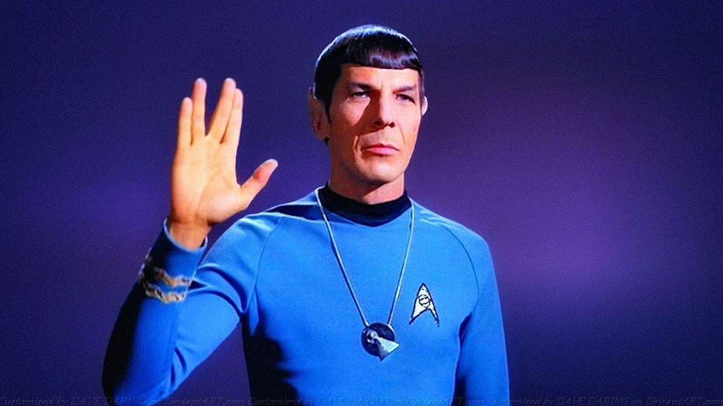 Spock's Salute Instead of The Traditional Handshakes